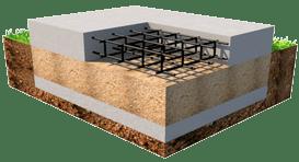 монолитный фундамент строительство